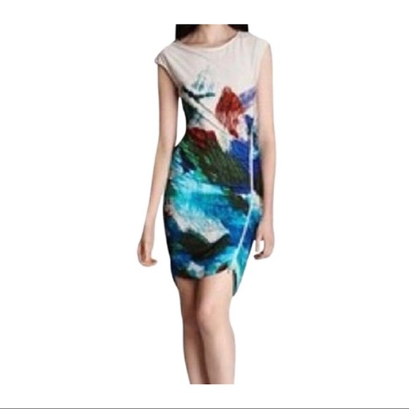 BCBGMaxAzria Dresses & Skirts - BCBG Abstract Dell Side Zipper Fitted Dress